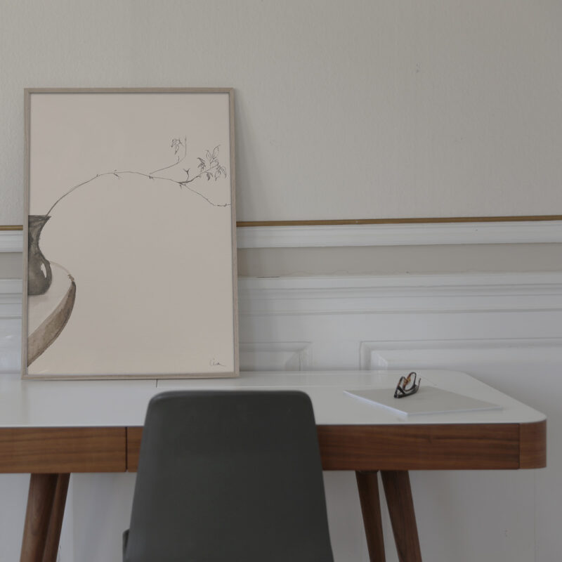 The Branch 01 is the title of this artwork in the frame
