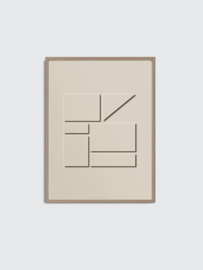 Monochrome 01 art print, in a beige color