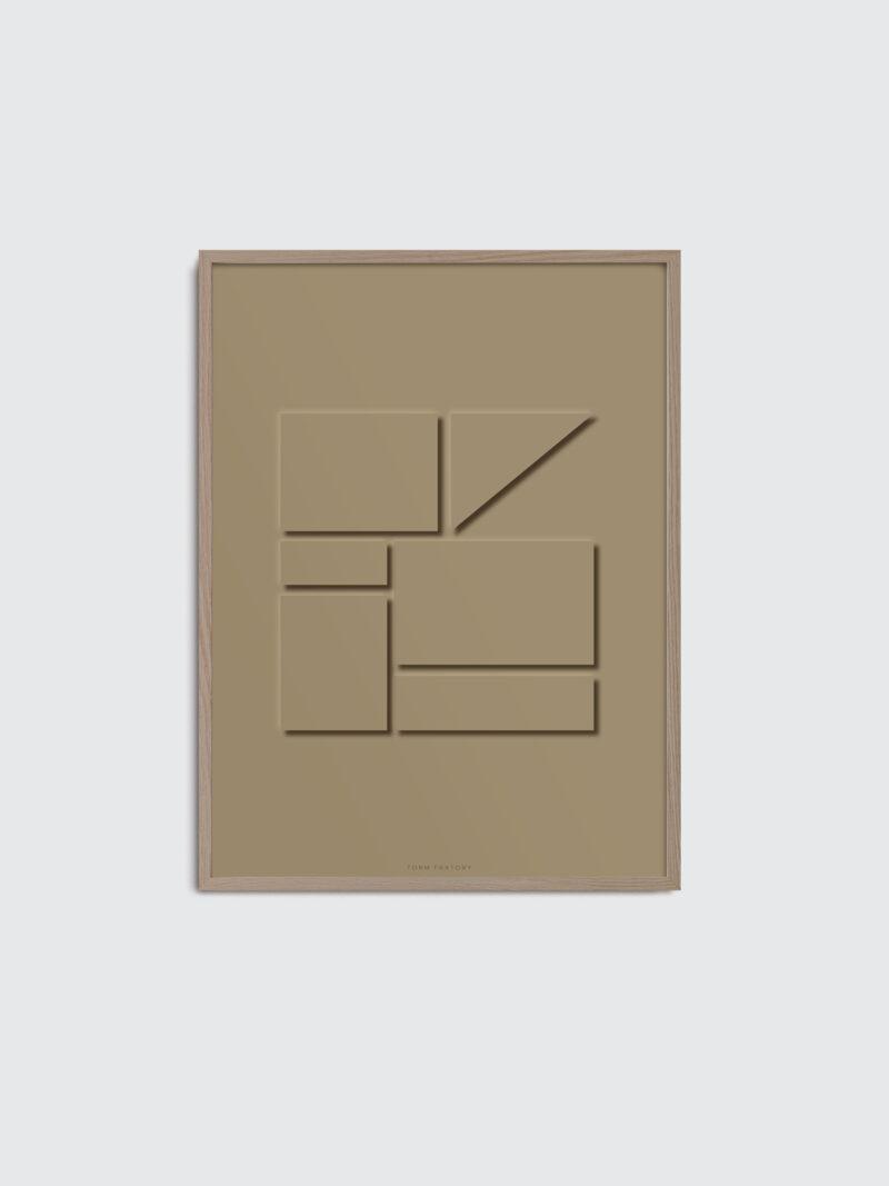 Monochrome 01 art print, in a browncolor