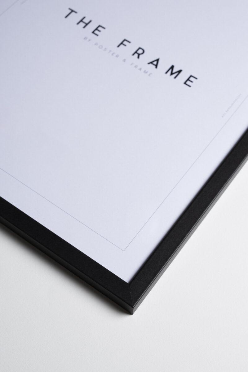 Black wooden frame