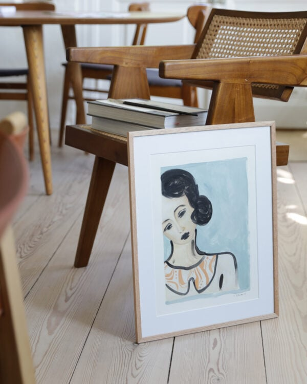 An original painting and a chair