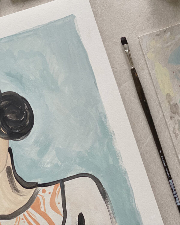 A painting and a brush